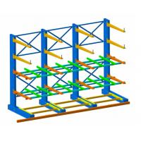 China Single Sided Long Span Cantilever Storage Rack With RAL Powder Coating wholesale