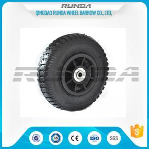 China Plastic Rim Pneumatic Rubber Wheels SGS , 8 Inch Pneumatic Wheels For Trolleys wholesale