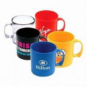 China Promotional Plastic Mugs with 300ml Capacity wholesale