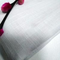 GOTS Organic cotton slub yarn fabric  white color made in China