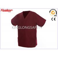 China Fashionable Printed Embroidery Hospital Uniforms S / M / L on sale