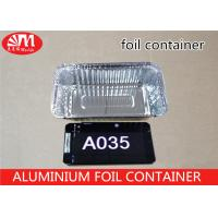 China A035 Foil Food Storage Containers , Aluminum Take Away Containers Grill Pan wholesale