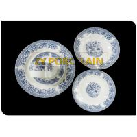 classics blue for Greece market  porcelain 20pcs round dinnerware sets