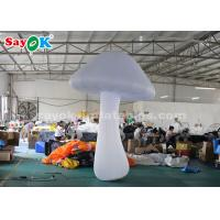 China Nylon Cloth 3 Meter White Inflatable Mushroom For Stage Decoration wholesale