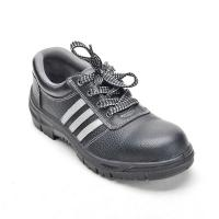 China Men's Safety Shoes Low Cut with Steel Toe and Reflect Strip Black on sale