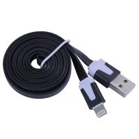 China Dual Color Noodle USB Cable Sync Flat Data Charger Cable for iPhone 2G3G4G4S iPad black wholesale