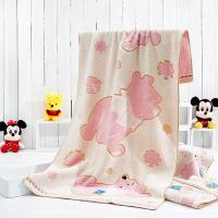 China Winnie Loops Dyed Disney Beach Towels Pink Color With Dobby Border wholesale