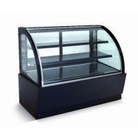 China Curved Glass Refrigerated Display Case Cabinet For Cakes And Bakeries wholesale