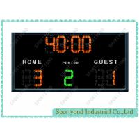 Futsal Electronic Scoreboard For Soccer Scores Sign Display with timer display and time period