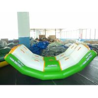 China White And Green Totter Board Inflatable Water Sports For Lake , Big Pool wholesale