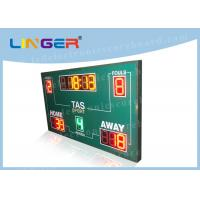 China Wireless Basketball Scoreboard , Basketball Clock Timer Red / Yellow / Green Color wholesale