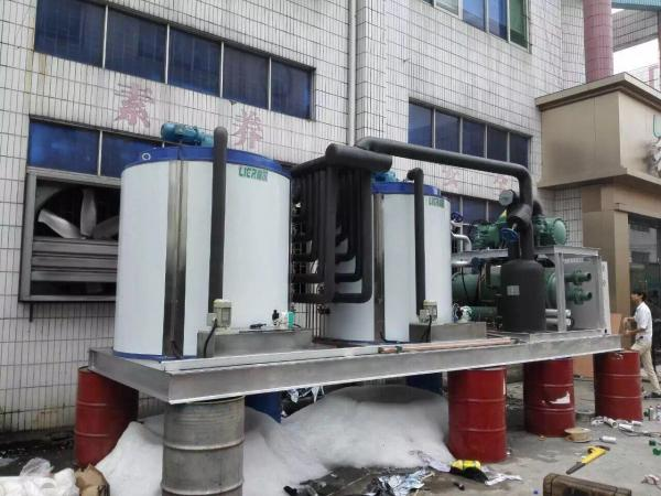 Quality La refrigeración por agua Lier 40T transportó en contenedores la máquina de hielo de la escama con control del PLC for sale