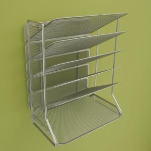 China Office Mesh Magazine Display Racks Desk Organizer With 6 Tray on sale