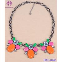 China Women fashion Necklace Chunky Crystal candy color gemstone Jewelry wholesale