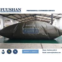 China Fuushan 24 Foot Container Temporary / Long Use Time Oil Tank Collapsible Folding Pe / Tpu Soft Fuel Bladder wholesale