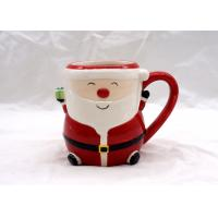 China Food Safe 3D Ceramic Mug Hand Painted 14 OZ Christmas Children Gifts Dolomite Material wholesale