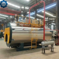 China 2000kg/H Diesel Oil And Natural Gas Fired Dual Fules Steam Boiler For Paper Pulp Production wholesale
