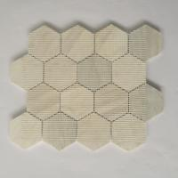 China New Arrival 3 Inch Hexagon Mosaic Tile Natural Stone Mosaic Tile For Hourse Interior Decoration wholesale