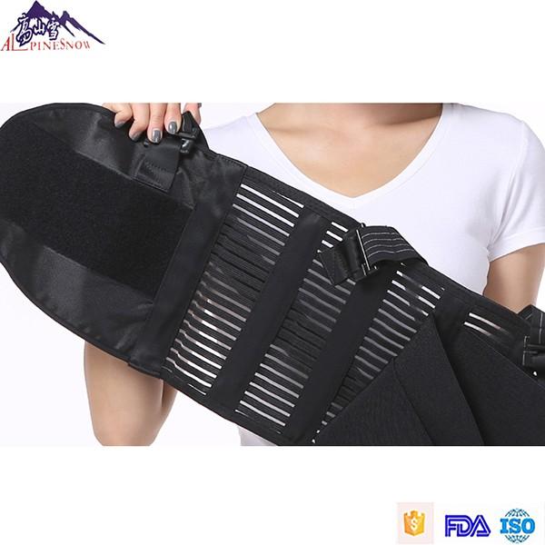 Alpinesnow Lumbar Lower Back Waist Support Belt Brace with Suspenders