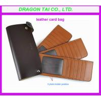 China credit card wallet with photo holder, leather  card bag wholesale