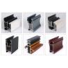 China Construciton Alloy 6063 T5 Powder Coated Aluminium Door Profiles / Extruded Aluminum Profiles wholesale