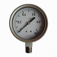 China Boiler Pressure Gauge with Gear Transmission Mechanism Feature on sale