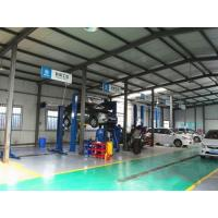 China Garage Steel Structure Construction / Metal Frame Structures Sa 2.5 Shot Blasting Level wholesale