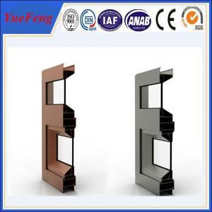 China double glazed aluminium sliding windows, kitchen sliding window aluminium extrusion on sale
