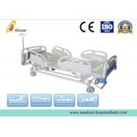 China Hospital Electric Bed 5 Funtion ABS Guardrails ICU Bed With Brake Wheel (ALS-E502) wholesale