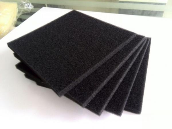 Quality PU Polyurethane Activated Carbon Air Filter Foam with Customized Size and Color for sale