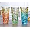China Rose Flower Decorative Glass Vases Machine Press For Friend Restroom Desktop wholesale