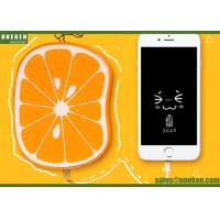 China Fastcharging 8000mAh Fruit Power Bank Orange Polymer Battery CE / ROHS wholesale