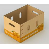 China Corrugated Vegetables Packing Boxes For Fruit Shipping ISO9001 Certification wholesale