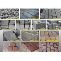 China Outdoor Garden Natural Paving Stones Basalt Cobble Stone Raw Material wholesale