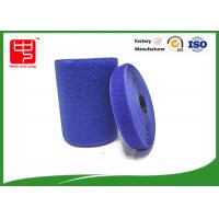 China Blue hook and loop tape customized adhesive backed hook and loop tape 100% nylon material wholesale
