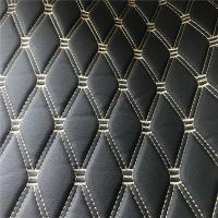 Black Color Fake Leather Fabric / Artificial Leather Cloth SGS Certification
