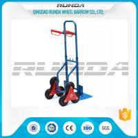 China Telescopic Heavy Duty Hand Trolley Double Wheels Powder Coating Steel Tube 200kg wholesale