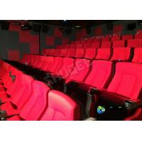 China Red 3D Movie Cinema / Movie Theatre Seats With Vibration System CE Approval wholesale