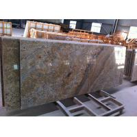 Brazilian Golden Vein Granite Island Top Flat Surfacce With Polished Edges