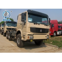 China SINOTRUK Howo 6X6 Prime Mover Truck in Black Sinotruk HOWO 371hp Prime Mover 6x6 Tractor truck wholesale