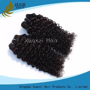 Buy cheap Curly Virgin Human Hair Extensions 7A 100% Virgin Hair Long Lasting from wholesalers