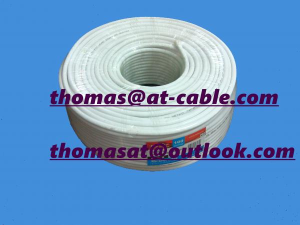 Quality RG6 CATV Coaxial Cable 18 AWG BC Conductor with 90% AL Braid Professional Manufacturer for sale