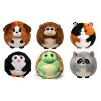 Buy cheap 25cm Round Shape Animal Promotional Gifts Toys Green / Brown / Grey Color from wholesalers