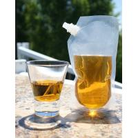 China Puncture Resistant Spout Liquor Pouch Ideal For Travel Flask with Funnel wholesale