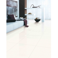 China Large Size Porcelain Thin Wall Tile Rectangular White Living Room Slim Ceramic Floor Tiles With Good Price on sale