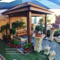 China WPC gazebo for sale 4m*4m in Kuwait -wood plastic composites material wholesale