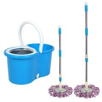 China 360 Easy Wring Spin Mop and Stainless Steel Bucket with Wheels Includes Free Microfiber Mop Heads on sale