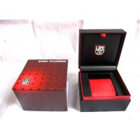 China Red Handcrafted Plastic Watch Boxes , Luxury Watch Storage Box 110*110*85mm on sale