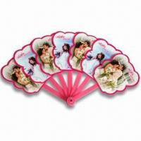 China Hand Fans, Customized Logo Printings are Accepted, Made of PP, Suitable for Promotional Purposes wholesale