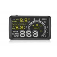 "OBD2 Vehicle Heads Up Speed Display W02 5.5 Inch Rotating Speed 5000r RPM Alarm 5.5 "" Screen"